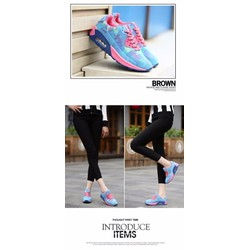 Giày thể thao siêu nhẹ màu xanh– hồng S-TT111