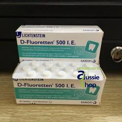 Vitamin d fluoretten 500 I.E - Hỗ trợ chống còi xương ở trẻ sơ sinh