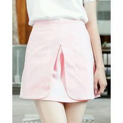 Chân váy ngắn hồng