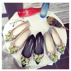 Giày búp bê hoa sắc màu