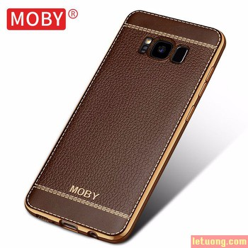 Ốp lưng Galaxy S8 Moby Leather Case + Iring + dán lưng Carbon