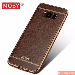 Ốp lưng Galaxy S8 Moby Leather Case + Iring + dán lưng Carbon