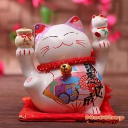 Mèo thần tài, mèo may mắn Maneki Neko MS35315 size 7 cm