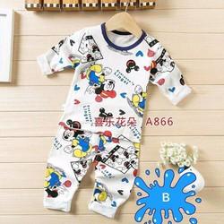 Bộ ngủ bé trai dễ thương hình chuôt Mickey NX1026