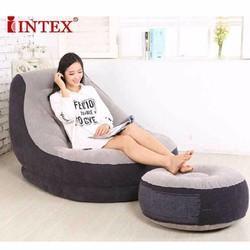 Bộ ghế đệm hơi tựa lưng kèm để chân INTEX