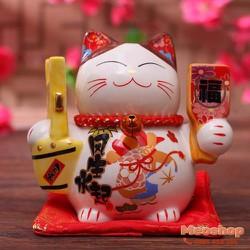 Mèo thần tài, mèo may mắn Maneki Neko MS35314 size 7 cm