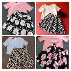 Set áo croptop + Chân váy