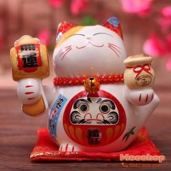 Mèo thần tài, mèo may mắn Maneki Neko MS35313 size 7 cm