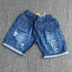 Quần sort jean cotton bé trai mùa hè