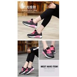 Giày thể thao siêu nhẹ màu đen – hồng S-TT110