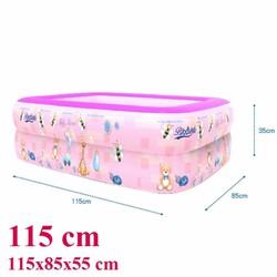 Bể bơi phao 2 tầng cho bé kích thước 115x85x35cm