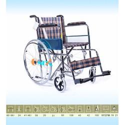 Xe lăn tiêu chuẩn nệm vải caro X97