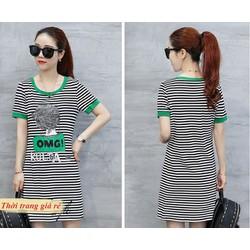 Đầm Kẻ Sọc Style Korea