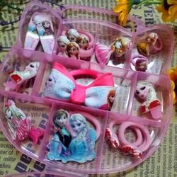 hộp phụ kiện cho bé màu hồng