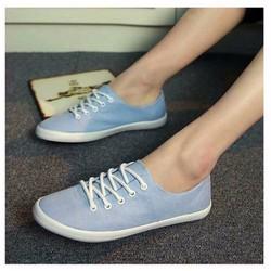giày bata nữ cột dây đế cao su