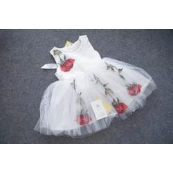 Đầm bé gái voan bông [6-12kg]