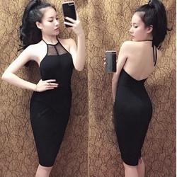 Đầm body yếm hở lưng sexy