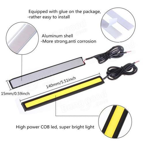 Đèn LED COB pha ngày dùng xe ô tô 17cm