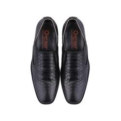 Giày nam Huy Hoàng vân da trăn màu đen-HS7195