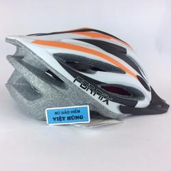 Mũ bảo hiểm xe đạp FORNIX trắng cam