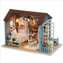 Nhà vát mái với phòng ngủ nhà búp bê cùng cún cưng