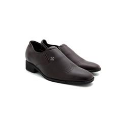 Giày nam tăng chiều cao  Huy Hoàng màu nâu-HS7715