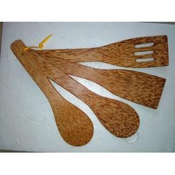Bộ tứ chiên xào gỗ dừa cao cấp 4 món