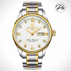 Đồng hồ nữ dây kim loại thời trang  Mặt trắng viền vàng
