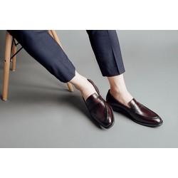 Giày lười laforce nam quai da cao cấp GNLA986603-N