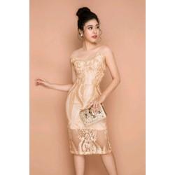 Đầm ren body thiết kế