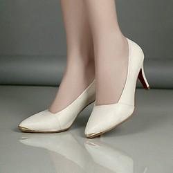 giày cao gót mũi đính kim loại sang trọng
