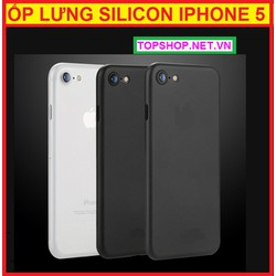 ỐP LƯNG SILICON IPHONE 5