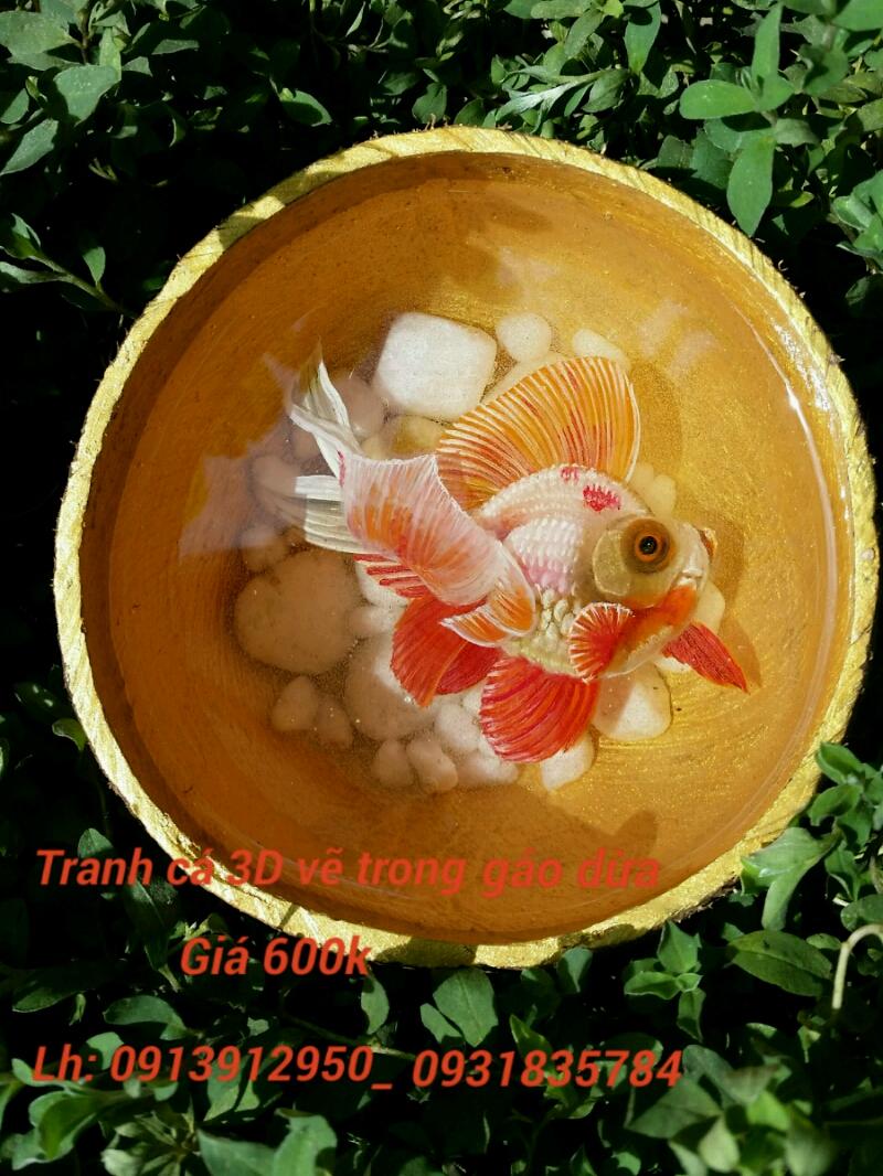 Tranh cá 3D quà tặng ý nghĩa 1