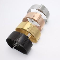 Dây đồng hồ kiểu lưới thép mỏng Milan 16mm 18mm 20mm 22mm 24mm