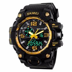 Đồng hồ thể thao Nam Skmei 1155 Dual Time màu VÀNG