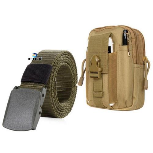 Túi đeo hông đi phượt đa năng + thắt lưng dù chiến thuật hq 80tu57-915 5c