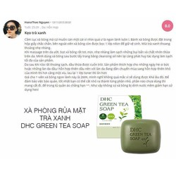 XÀ PHÒNG RỬA MẶT DHC GREEN TEA SOAP