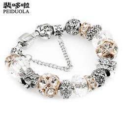 Vòng tay đính đá cực đẹp quyến rũ -màu trắng - VTN001