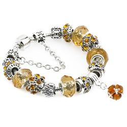 Vòng tay đính đá cực đẹp quyến rũ -màu vàng - VTN005