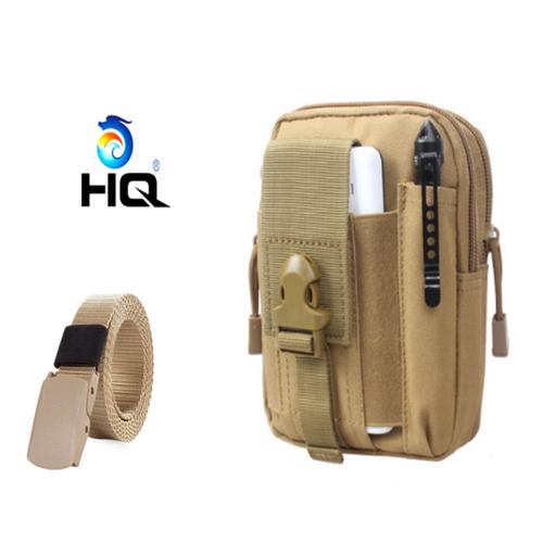 Túi đeo hông đi phượt đa năng + thắt lưng dù chiến thuật hq 80tu57-915 7c