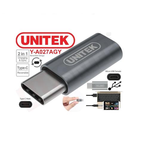 Đầu chuyển đổi USB Type-C sang Micro USB Unitek Y027AGY