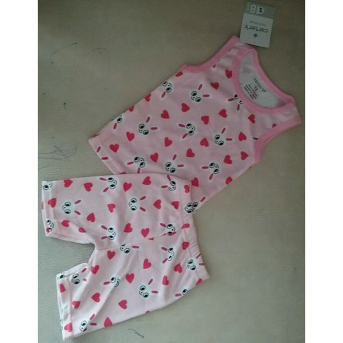 Bộ thun bé gái xuất khẩu quần lửng