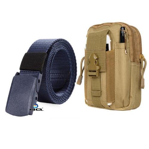 Túi đeo hông đi phượt đa năng + thắt lưng dù chiến thuật hq 80tu57-915 6c