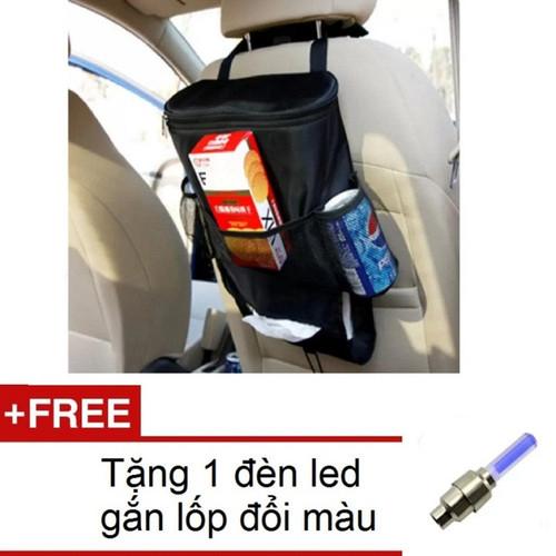 Túi đựng đồ lạnh du lịch trên ô tô hq 206066 đen