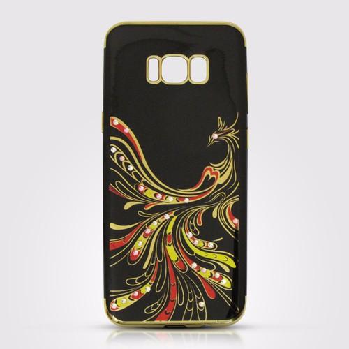 Ốp lưng dẻo Galaxy S8 Plus họa tiết đẹp đen