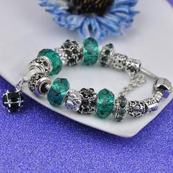 Vòng tay đính đá cực đẹp quyến rũ -màu xanh nước biển - VTN009
