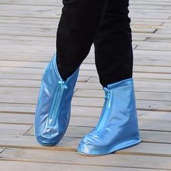 Giày nữ đi mưa dây kéo trước tiện dụng