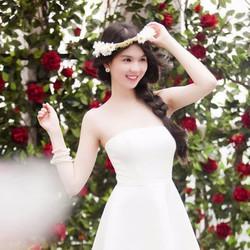 Đầm xòe đơn giản sang trọng giống Ngọc Trinh