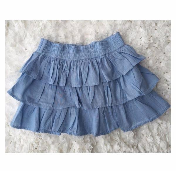 Chân váy tầng vải kate Crazy8 cho bé gái 4-10T V163 1