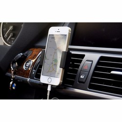 Kẹp Điện thoại trên Ôtô gắn vào khe Máy lạnh